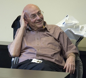 Marvin Minsky at the OLPC offices at MIT